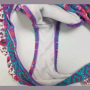 Billabong Swim - Billabong Bikini Bottom Aztec Floral Ruffle